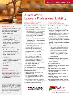 Allied World Lawyers Professional Liability
