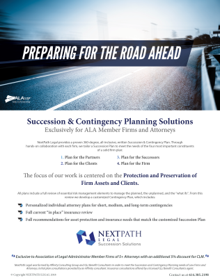 succession planning, contingency planning, association of legal administrators, NextPath Legal