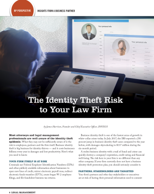 Identity Theft, ALA, Association of Legal Administrators, BreachPro, iDefend